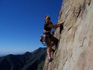 Kristin Tara Horowitz climbing